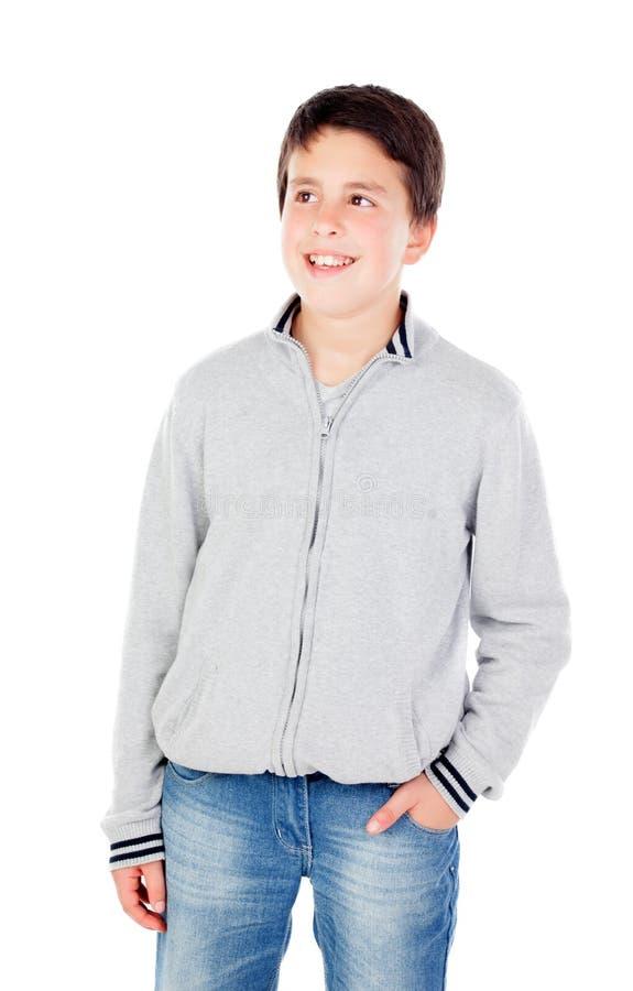Lächelnder Teenager von dreizehn lizenzfreies stockfoto