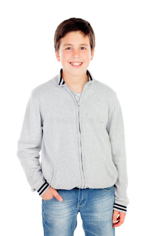 Lächelnder Teenager von dreizehn stockfotografie