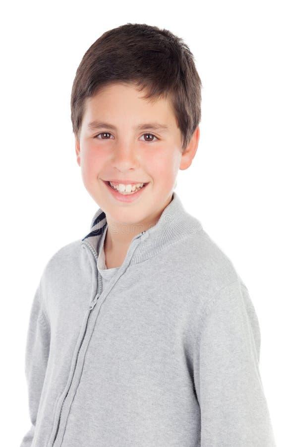 Lächelnder Teenager von dreizehn lizenzfreie stockfotografie