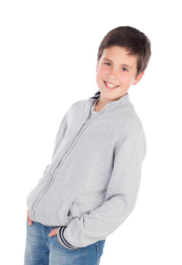 Lächelnder Teenager von dreizehn lizenzfreie stockbilder