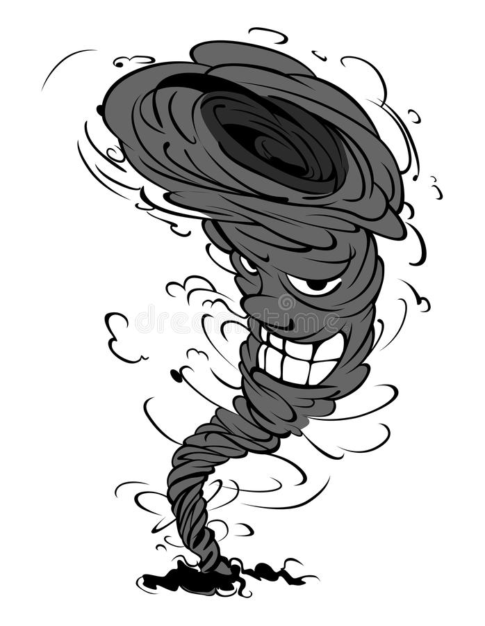 Lächelnder Tornado stock abbildung