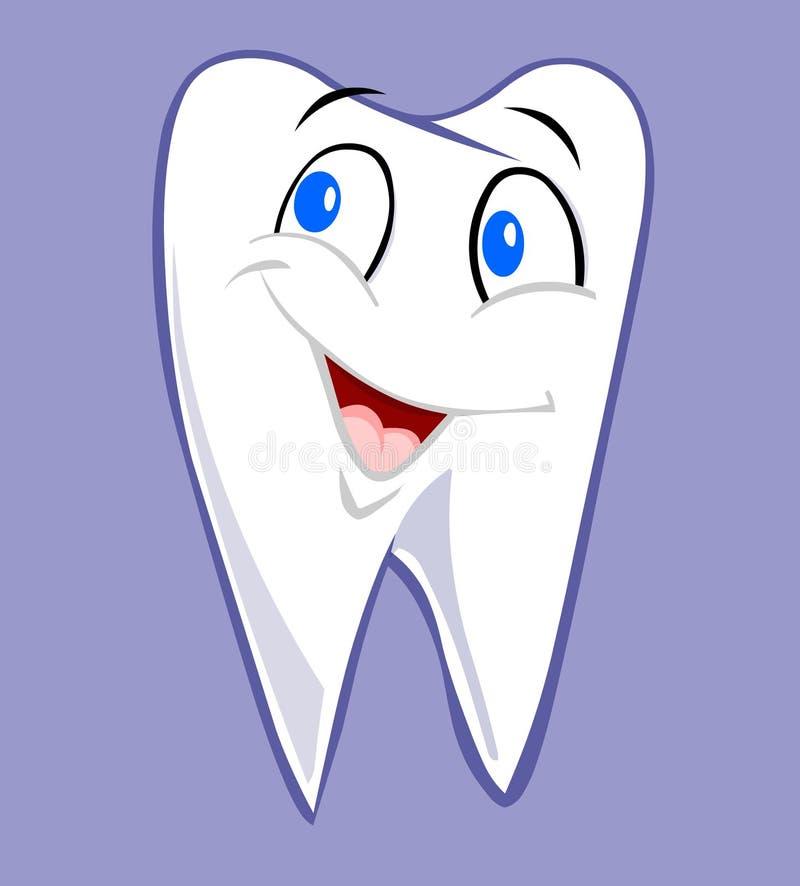 Lächelnder Zahn lizenzfreie abbildung