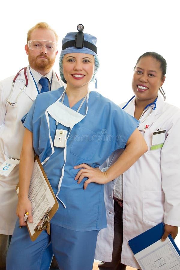 Lächelndes Ärzteteam stockbilder