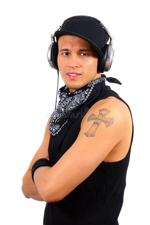 Lächelndes DJ lizenzfreies stockfoto