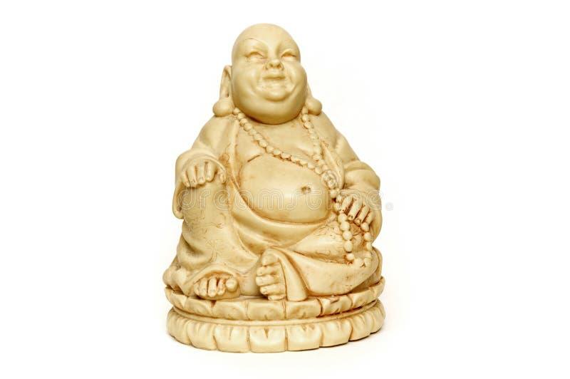 Lächelndes Elfenbein Buddha stockfoto