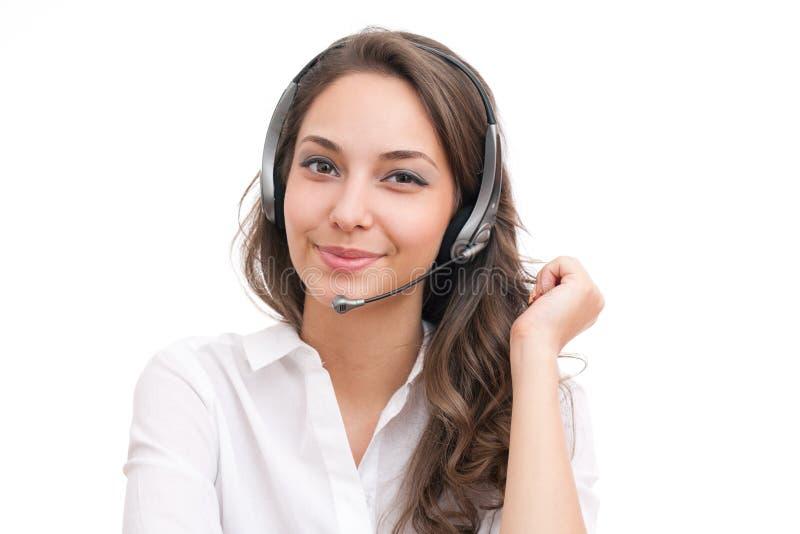 Lächelndes freundliches Büromädchen. stockbilder