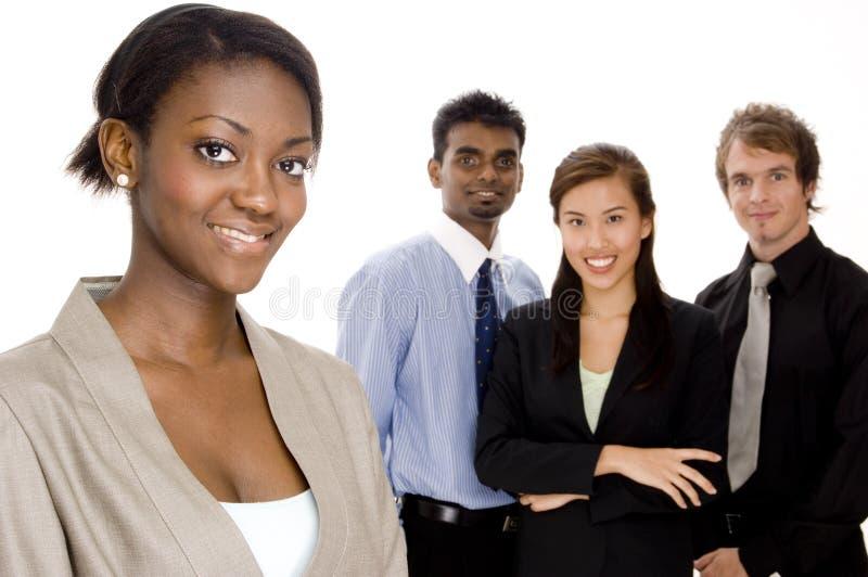 Lächelndes Geschäfts-Team stockfotos