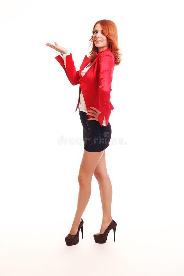 Download Lächelndes Geschäftsfraudarstellen Stockbild - Bild von firma, fachmann: 27731911