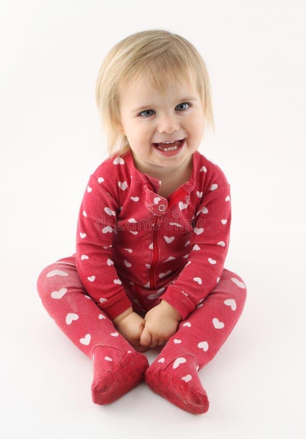 Lächelndes glückliches Baby stockbild