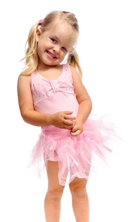 Lächelndes glückliches Ballettmädchen lizenzfreie stockfotos