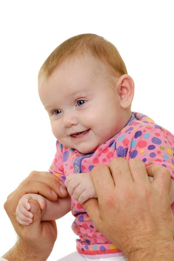 Lächelndes glückliches Schätzchen lizenzfreie stockfotos