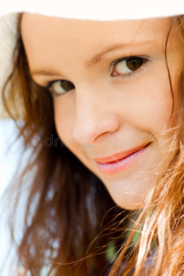 Lächelndes jugendlich Portrait stockfotos