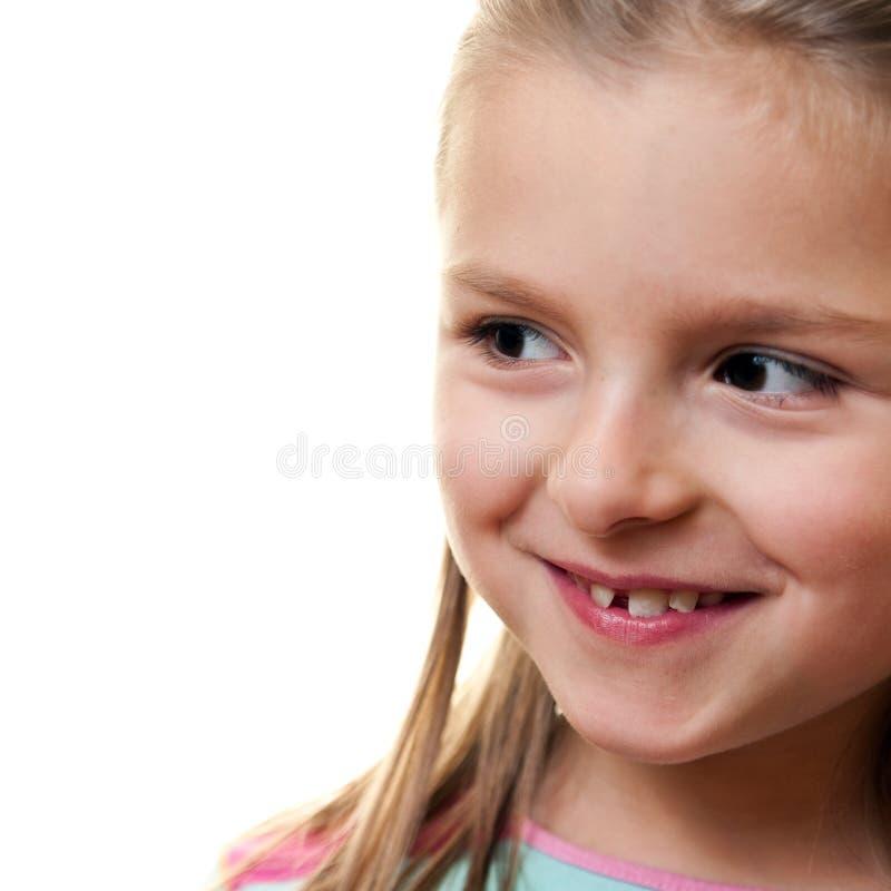 Lächelndes Junges Mädchen Stockfotografie