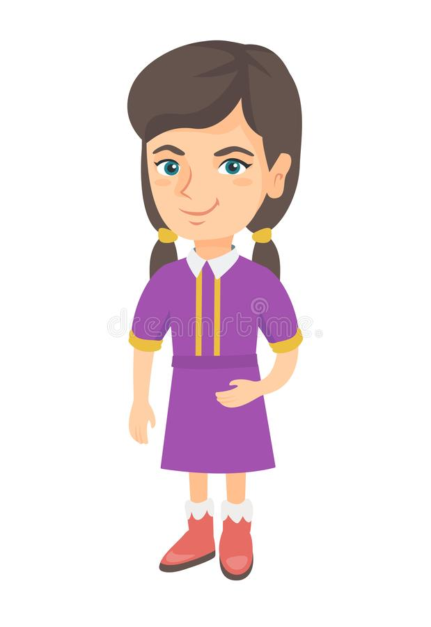 Lächelndes kleines kaukasisches Kindermädchen vektor abbildung