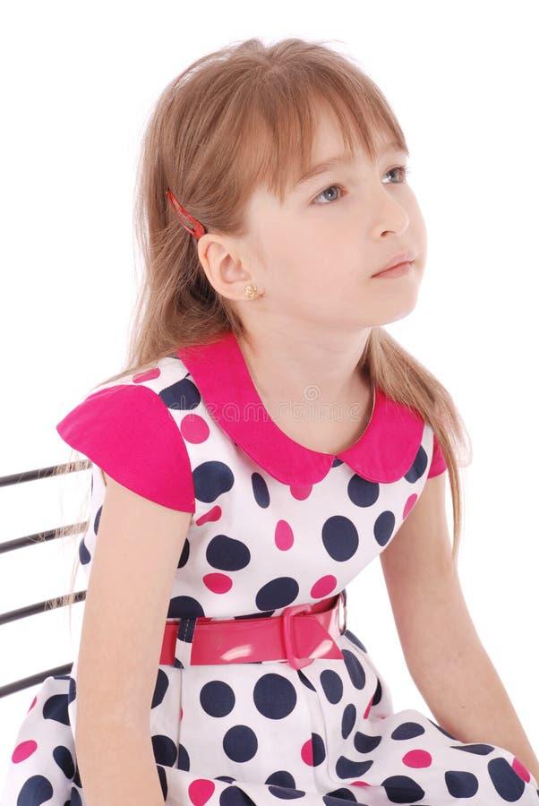 Lächelndes kleines Mädchen des Porträts stockfoto