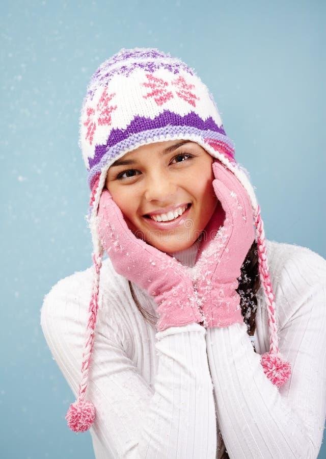 Lächelndes Mädchen lizenzfreie stockbilder