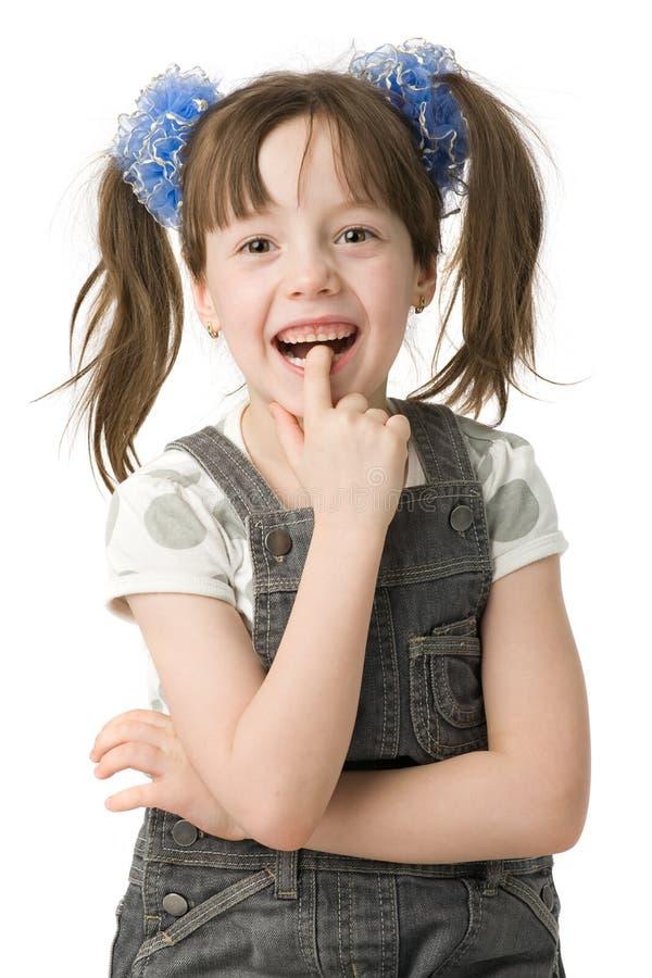 Lächelndes Mädchen des Portraits lizenzfreie stockfotografie