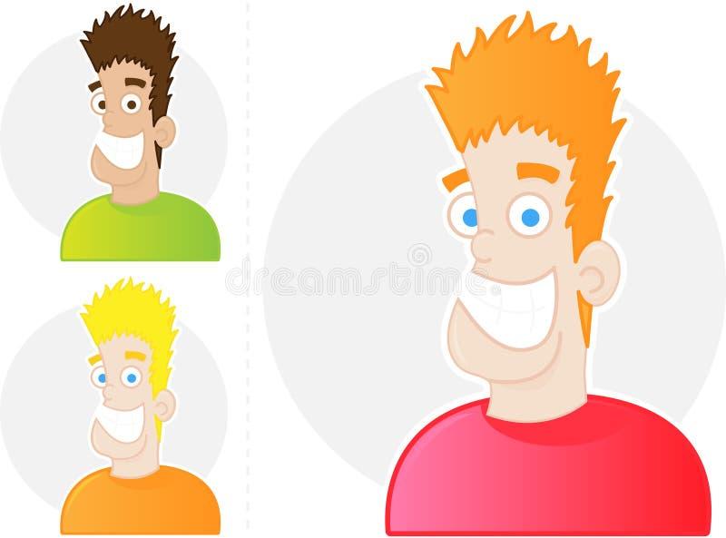 Lächelndes Mann-Gesicht stockfotografie