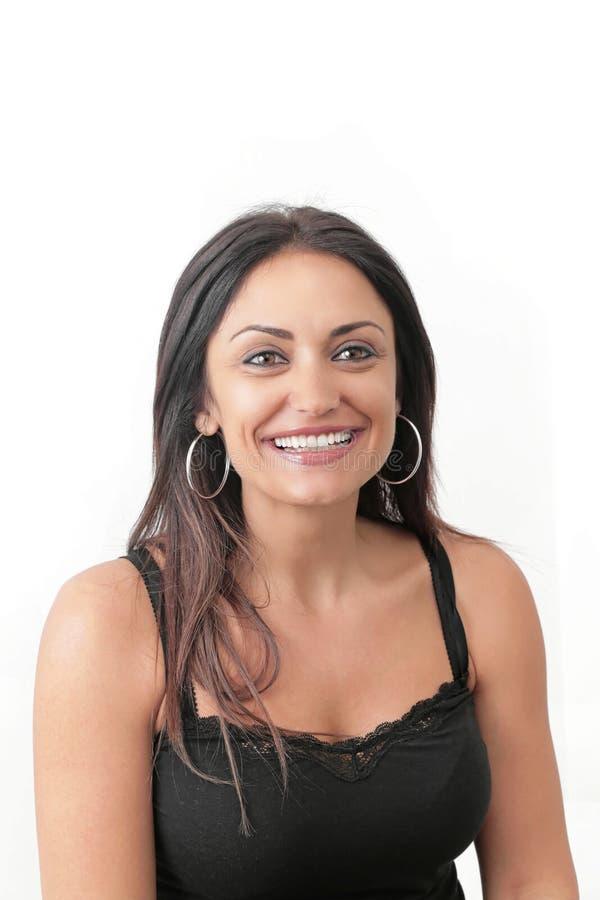 Lächelnfrau stockbild
