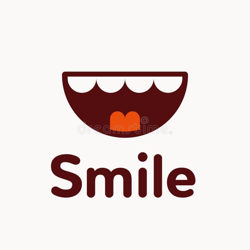 Lächelnlogo-Vektorillustration stock abbildung