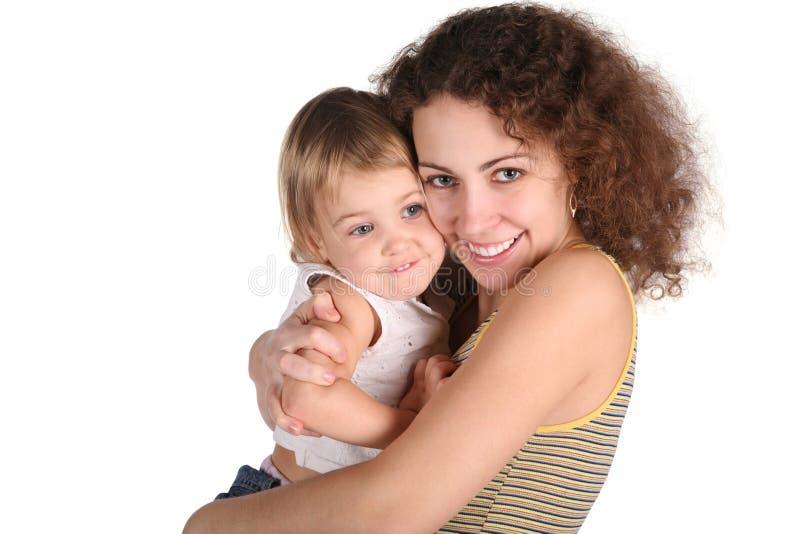 Lächelnmutter mit Schätzchen lizenzfreies stockfoto