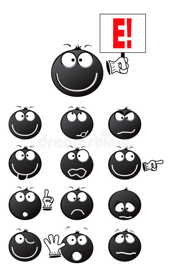 Lächelnschwarzes stock abbildung