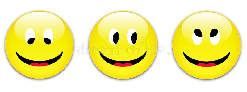 Lächelntasten stock abbildung