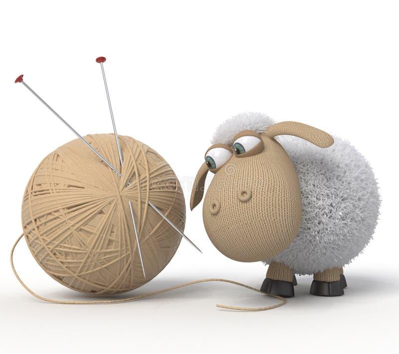 lächerliche Schafe 3d stockfotos