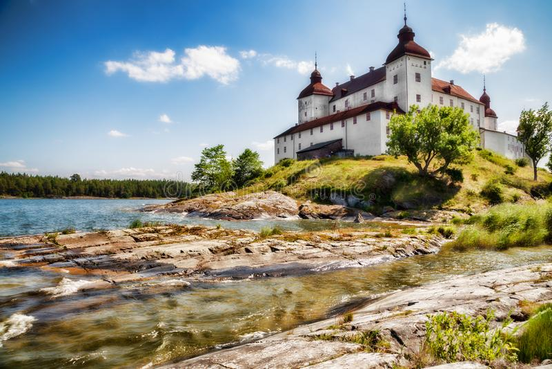 Läckö-Schloss Lidköping lizenzfreie stockbilder
