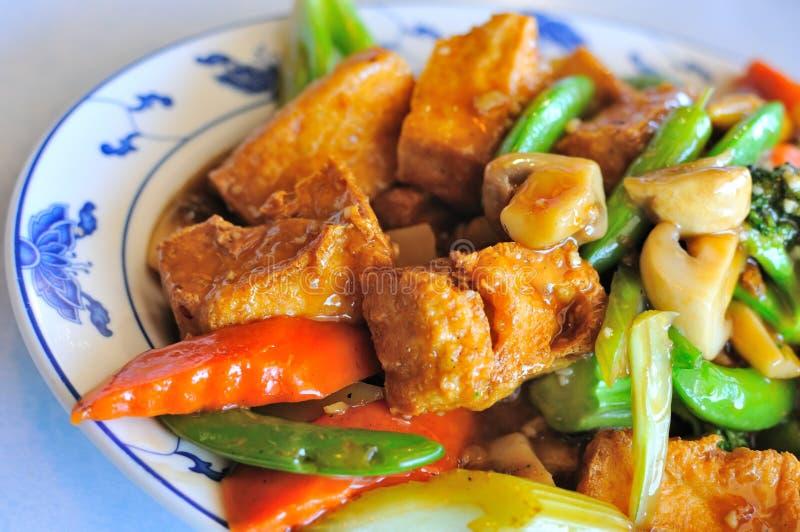 läcker asiatisk tofu royaltyfria bilder