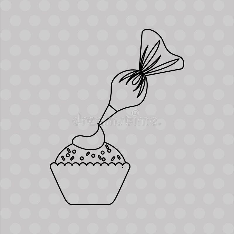 läcker bakelse shoppar design vektor illustrationer