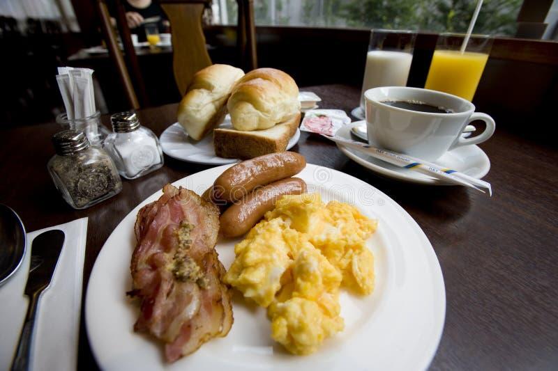 läcker frukost arkivbild