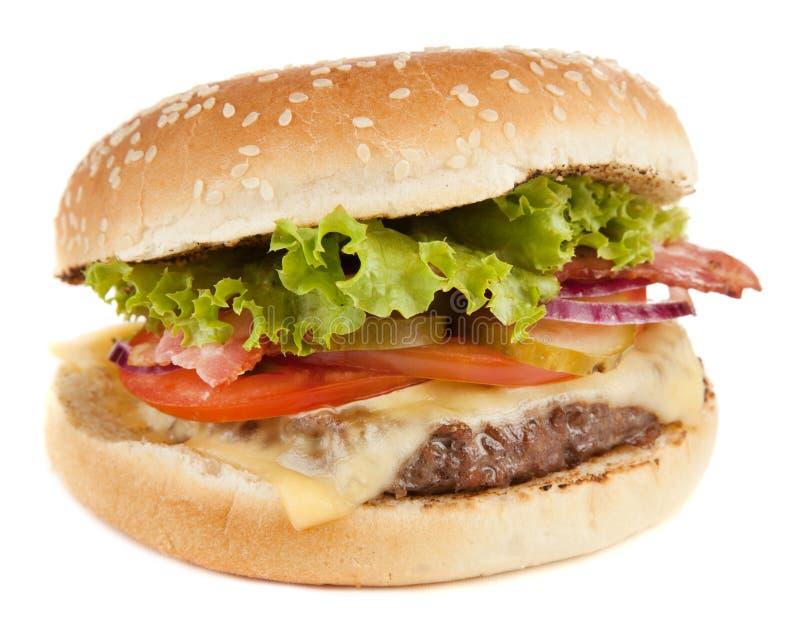 Läcker grillad hamburgare royaltyfria bilder