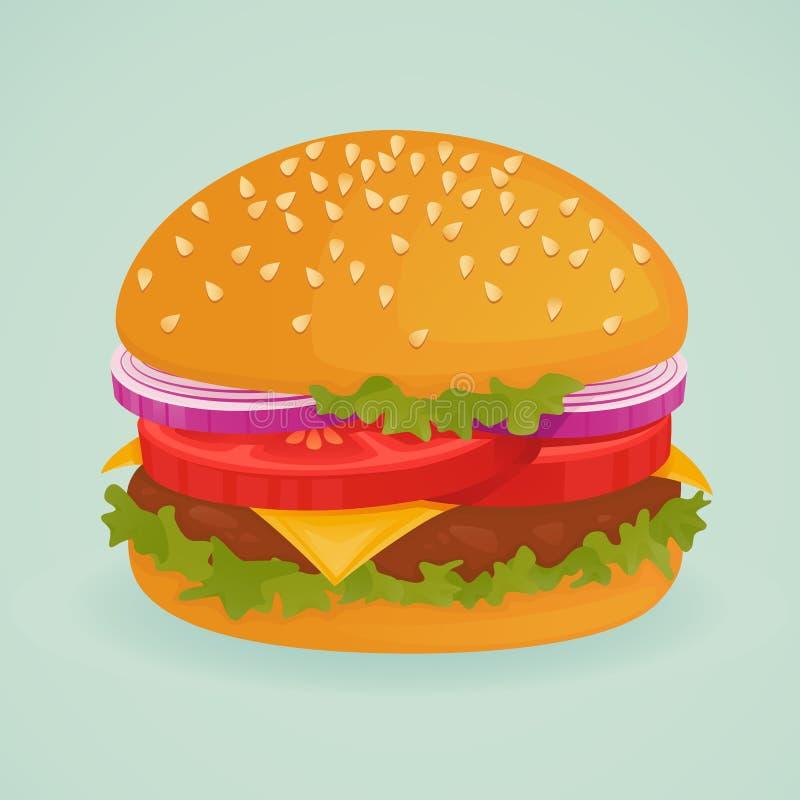 läcker hamburgare vektor illustrationer