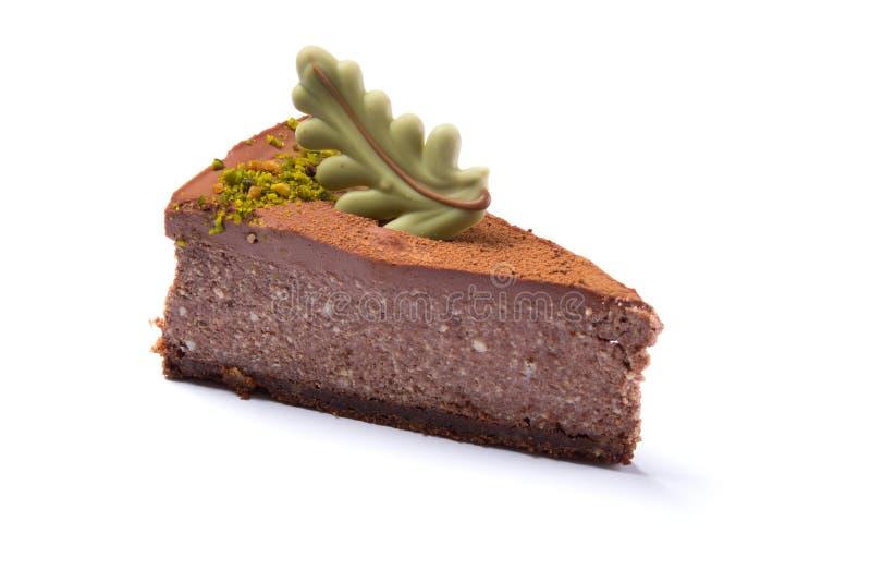 Läcker isolerad chokladkaka royaltyfri foto