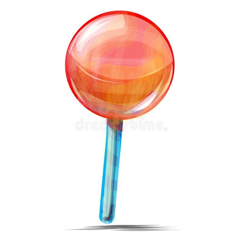 Läcker lollypop som isoleras på vit royaltyfri illustrationer