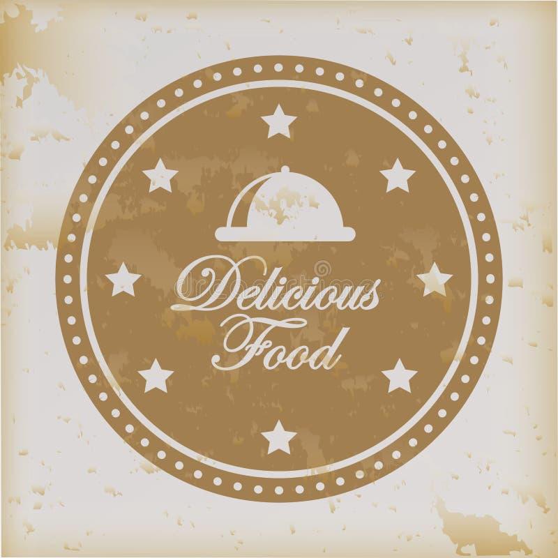 läcker mat stock illustrationer