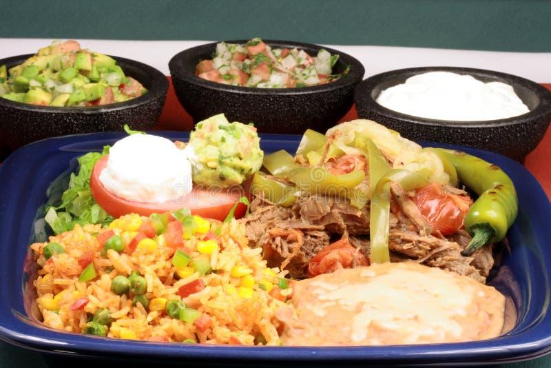läcker mexikansk platta för nötkött arkivfoton