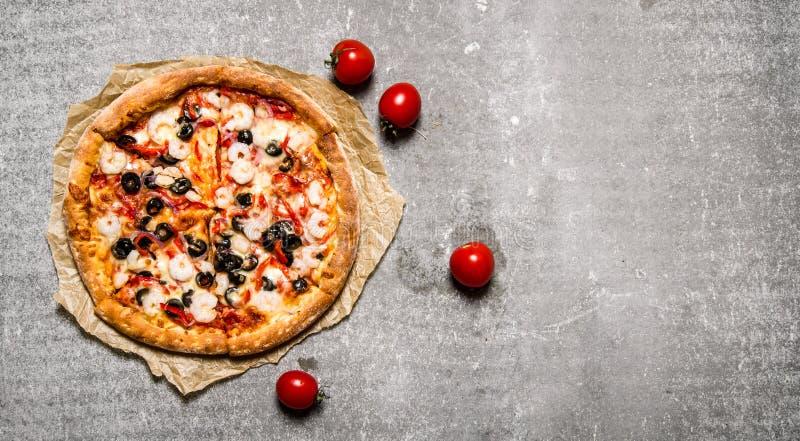 Läcker ny pizza arkivbild
