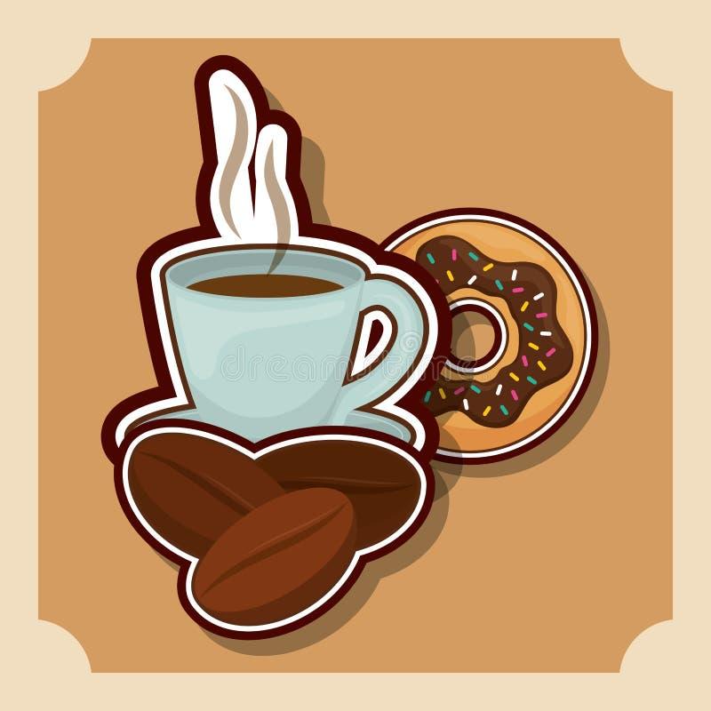 Läcker och varm kaffedrink stock illustrationer