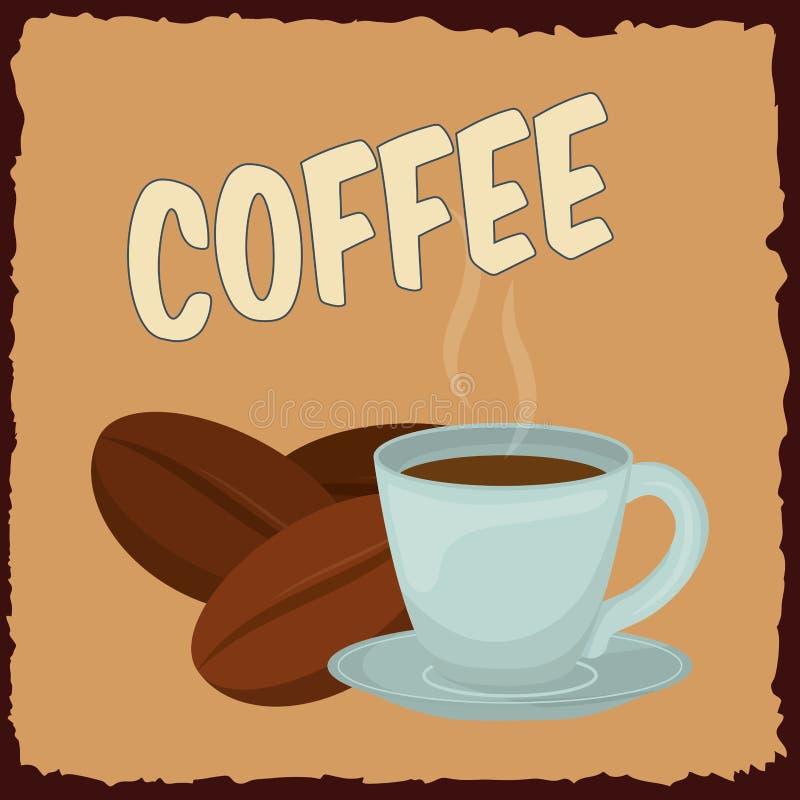 Läcker och varm kaffedrink vektor illustrationer