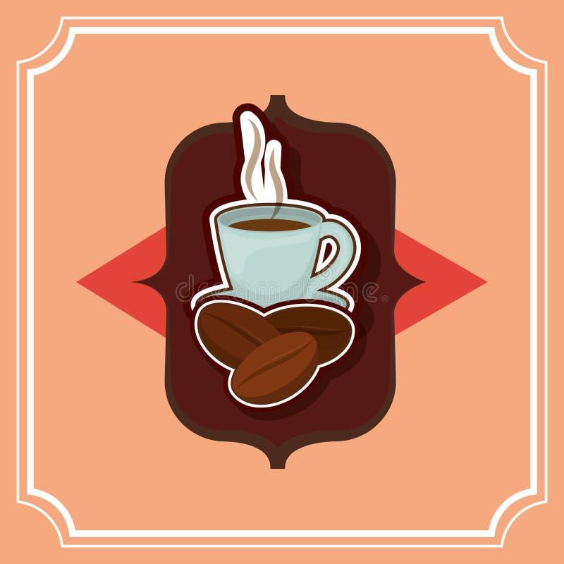 Läcker och varm kaffedrink royaltyfri illustrationer
