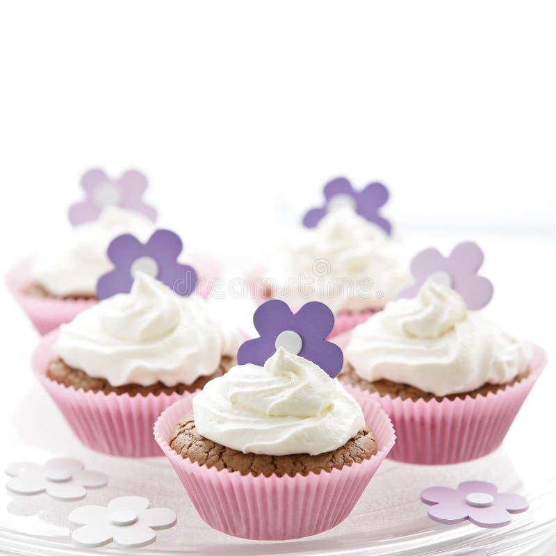 läcker sötsak för kräm- muffiner royaltyfria foton
