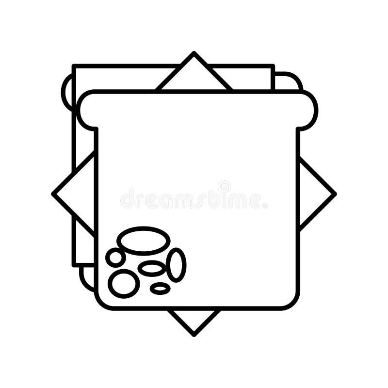 Läcker sandwish isolerad symbol royaltyfri illustrationer