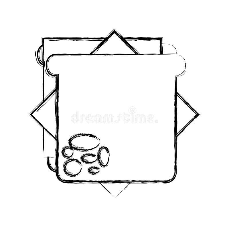 Läcker sandwish isolerad symbol stock illustrationer