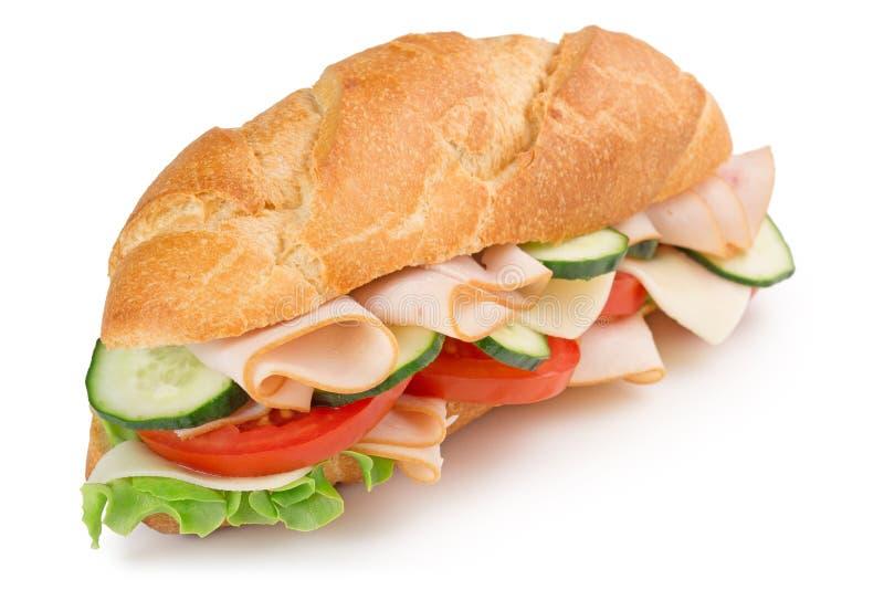 läcker skinksmörgås arkivbilder