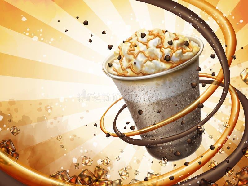Läcker smoothiebakgrund royaltyfri illustrationer