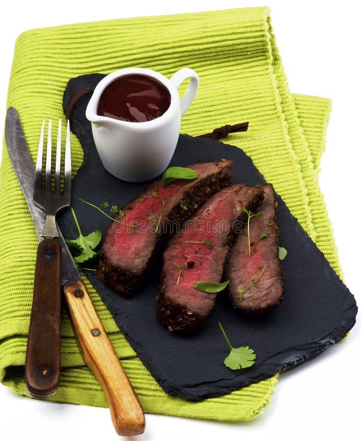 läcker stek för nötkött royaltyfria foton