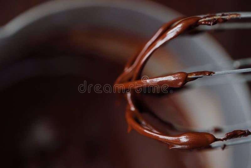 Läcker tjock varm choklad - brun färg fotografering för bildbyråer