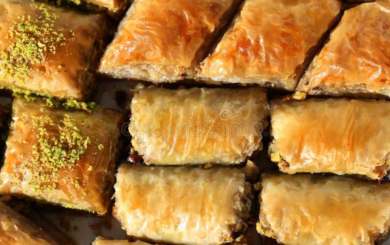 Läcker turkisk baklava royaltyfri bild